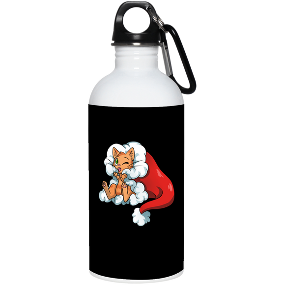 Santa Kitty 20 oz. Stainless Steel Water Bottle