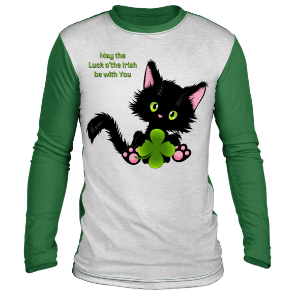 Lucky the Black Cat with Shamrock Lounge Top