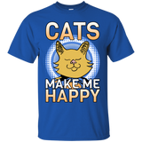 Cats Make Me Happy Ultra Cotton T-Shirt
