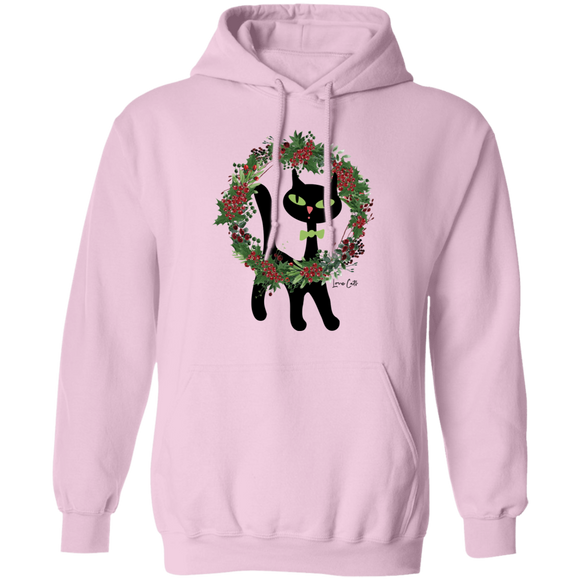Victor in Christmas Wreath Pullover Hoodie