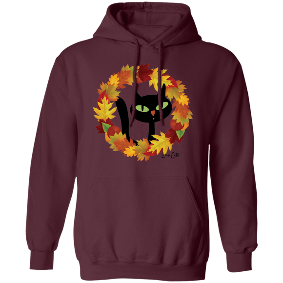 Victor in Fall Wreath Pullover Hoodie
