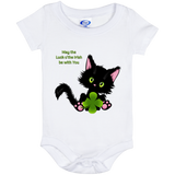 Lucky the Black Cat with Shamrock Baby Bodysuits