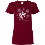 Cat and Snowflakes Ladies' T-Shirts