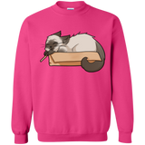 Box Cat Crewneck Pullover Sweatshirt