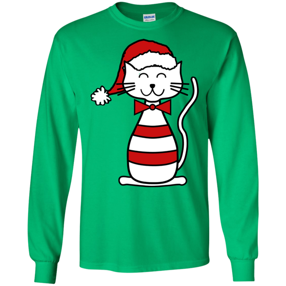 Santa Cat LS Ultra Cotton T-Shirt