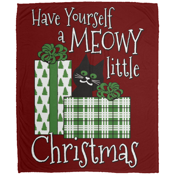 Meowy Little Christmas Blankets