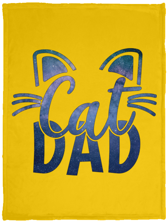 Cat Dad Cozy Plush Fleece Blankets