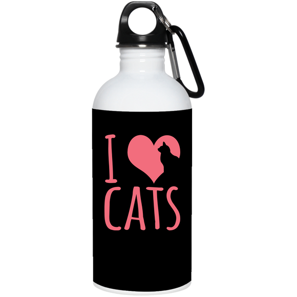 I Heart Cats Water Bottle