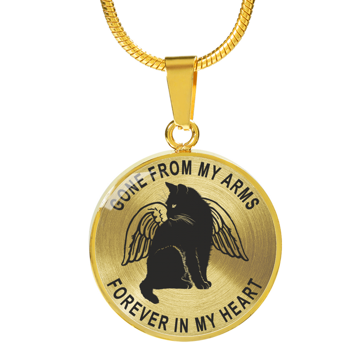 Forever in My Heart Cat Memorial Pendant Necklace or Bangle Bracelet
