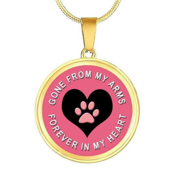 Gone From My Arms, Forever in My Heart Pendant or Bangle