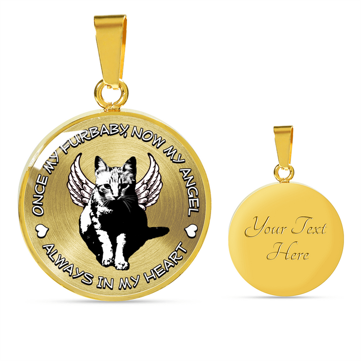 Always In My Heart - Cat Memorial Pendant Necklace or Bangle Bracelet