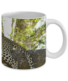 Leopard Resting Mug (white) (11 oz) - Raven's World - 2