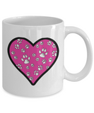 Full Heart (Cats and Dogs) Mug (white) 11 oz - Raven's World - 2