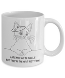 Cats May Not Be Angels Mug (white) 11 oz - Raven's World - 2
