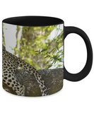Leopard Resting Mug (black) (11 oz) - Raven's World - 2