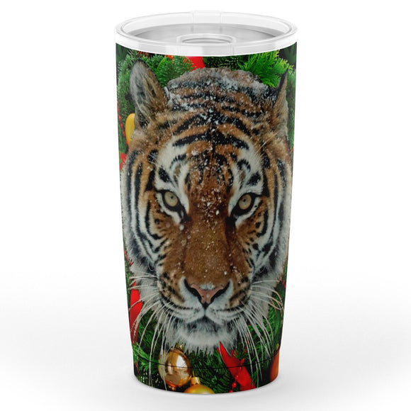 Tiger Wreath - Christmas Travel Mug
