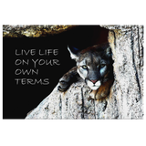 Cougar - Live Life on Your Own Terms - Canvas Wall Art