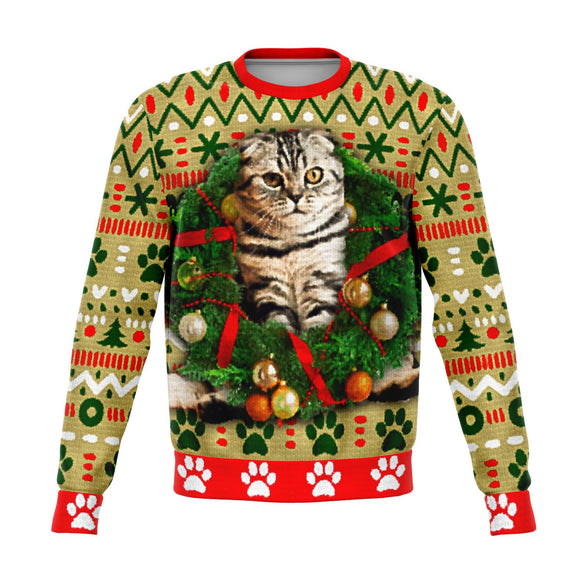 Scottish Fold Cat Christmas Sweater