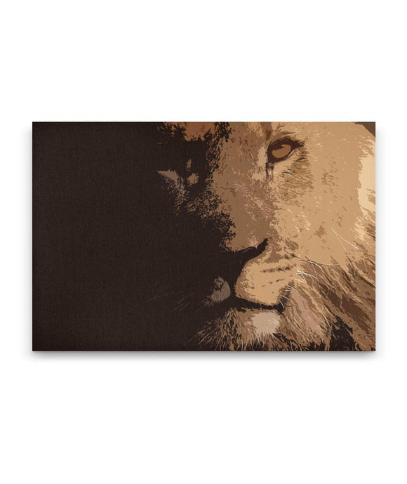 Stylized Lion Canvas Print