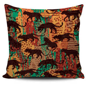 Wild Cat Safari Pillow Cover