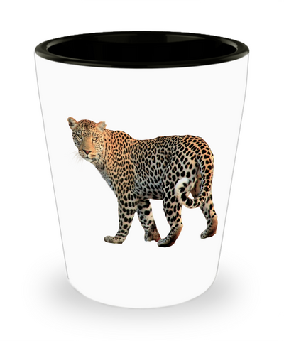 Leopard Shot Glass