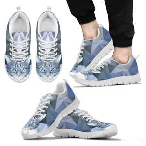 Ice Blue Cat Mens Sneakers