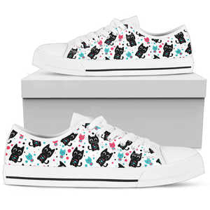 Cat Heart Womens Low Top Shoes