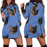 Tabby Face Hoodie Dress