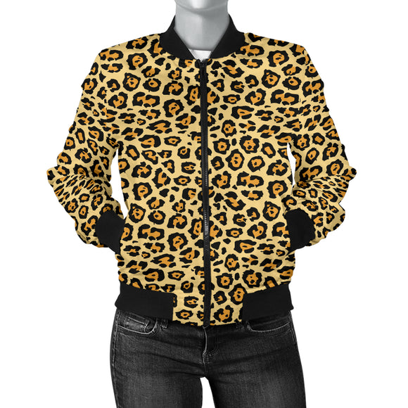 Jaguar Print Womens Bomber Jacket