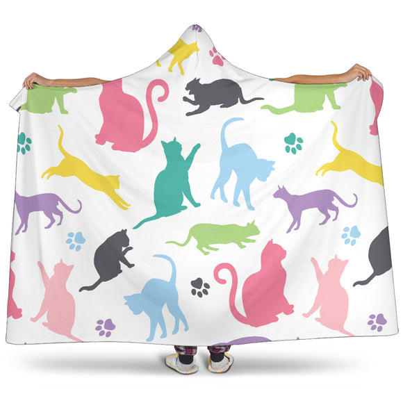 Lots of Cats Hooded Blanket