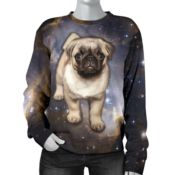 Galaxy Pug Womens Sweater