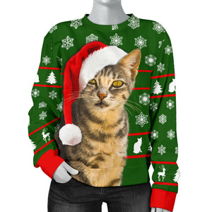 Santa Tabby Women's Christmas Sweater