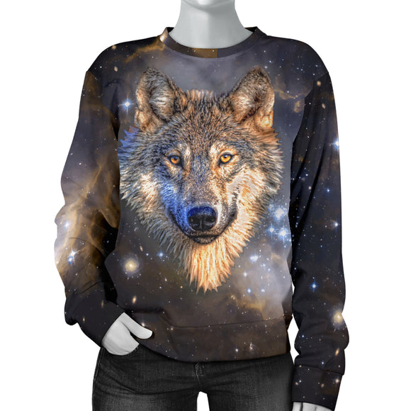 Galaxy Wolf Womens Sweater