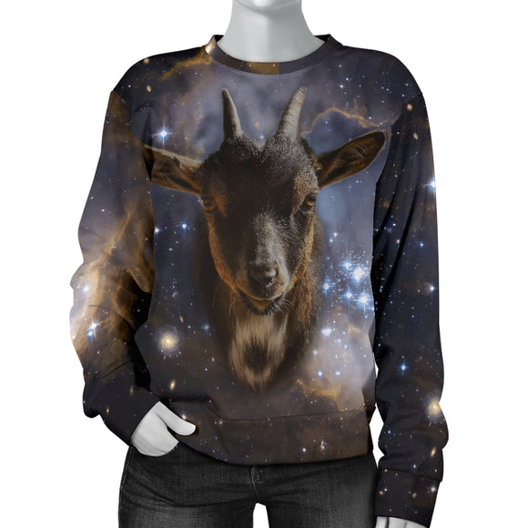 Galaxy Goat Womens Sweater