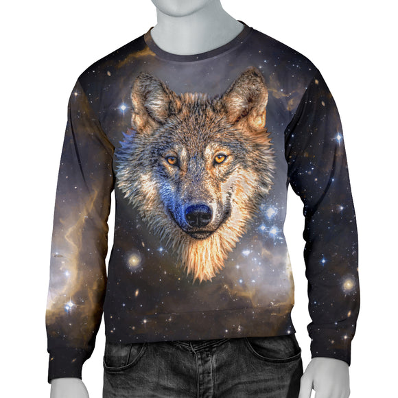 Galaxy Wolf Mens Sweater