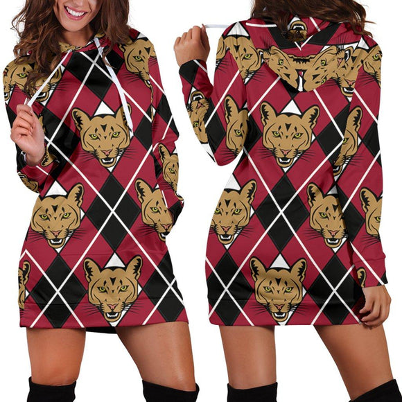 Cougar Argyle Hoodie Dress