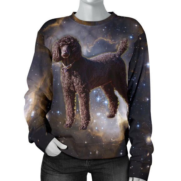 Galaxy Poodle Womens Sweater