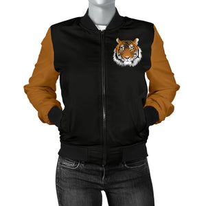 Tiger Face Womens Bomber Jacket