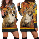 Fall Fox Hoodie Dress