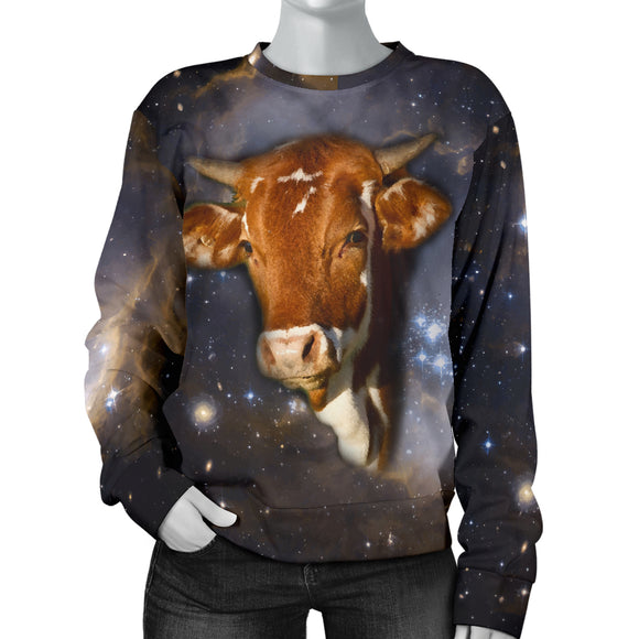 Galaxy Cow Womens Sweater