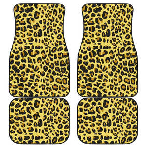 Leopard Car Floor Mats - Set of Four