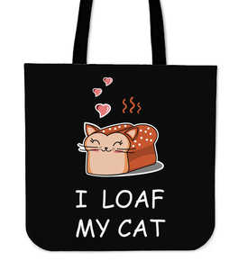 I Loaf My Cat Cloth Tote Bag