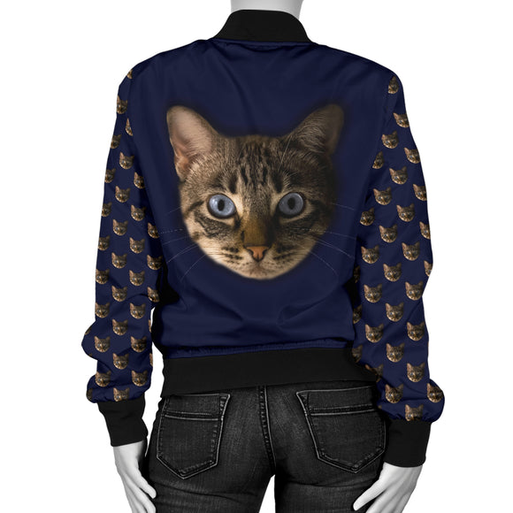 Tabby Face Women's Bomber Jacket