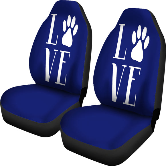 Love Cats Blue Car Seat Covers with Express Shipping
