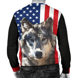 Wolf Face Flag Mens Sweater