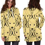 Labrador Face Pattern Hoodie Dress