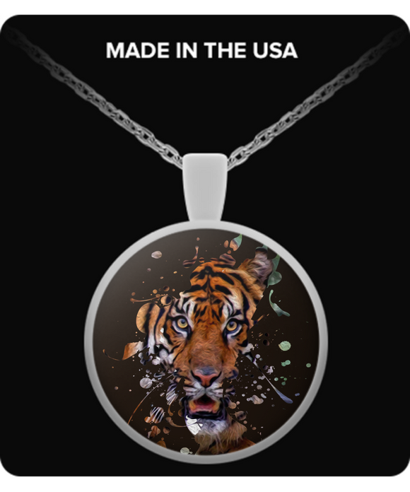 Disappearing Tiger Pendant (silver plated) - Raven's World