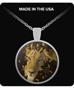 Disappearing Lion Pendant (silver plated) - Raven's World