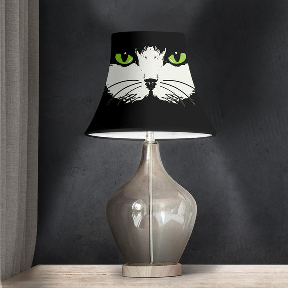 Green-Eyed Cat Face - Bell Lampshade