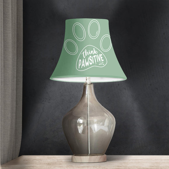 Think Pawsitive - Sage Green Bell Lampshade